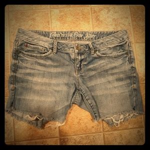 Converse One Star Cut Off Jean Shorts. Size 8